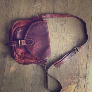 Handbags - Handmade leather cross body bag